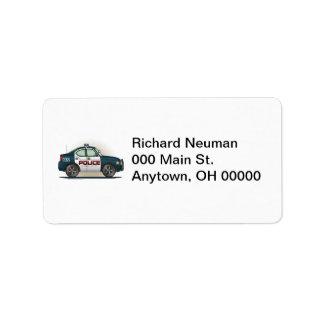 Police Interceptor Car Cop Car Address Label
