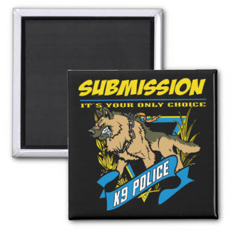 Police K9 Submission Square Magnet