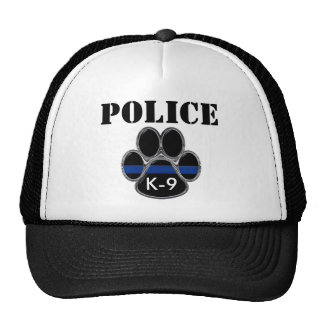 Police K-9 Thin Blue Line Trucker Hat