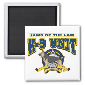 Police K-9 Unit Square Magnet