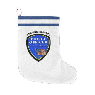 Police Large Christmas Stocking