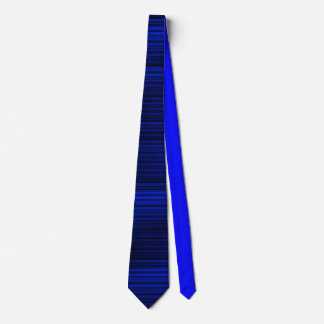 Police Law Enforcement Blue & Black Tie Thin Line