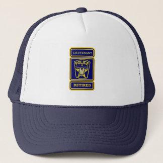 Police Lieutenant Retired Badge Trucker Hat