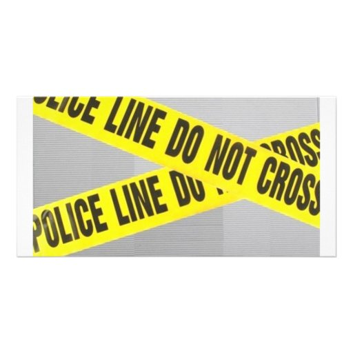 police line do not cross photo card template