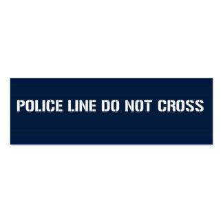 POLICE LINE DO NOT CROSS skinny Business Cards
