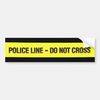 Police Line Do Not Cross sticker Bumper Sticker