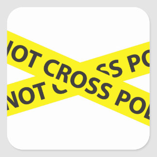 POLICE LINE DO NOT CROSS tape Square Stickers