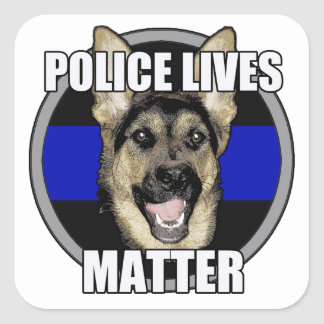 Police lives german shepherd square sticker