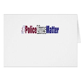 # Police lives matter Card