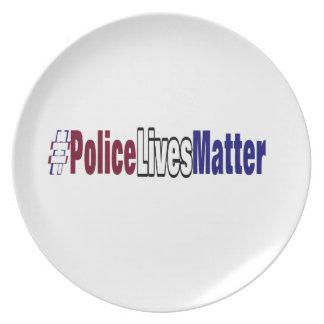 # Police lives matter Plate