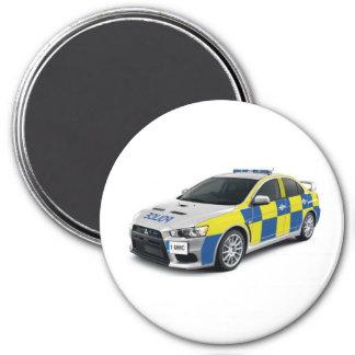 police mitsubishi lancer evo magnet