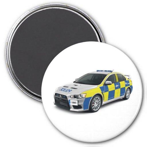 police mitsubishi lancer evo fridge magnets