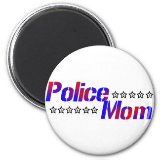Police Mom 6 Cm Round Magnet