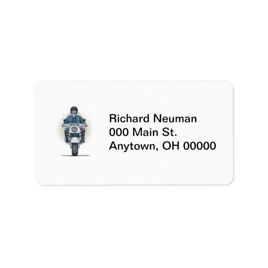 Police Motorcycle Address Label