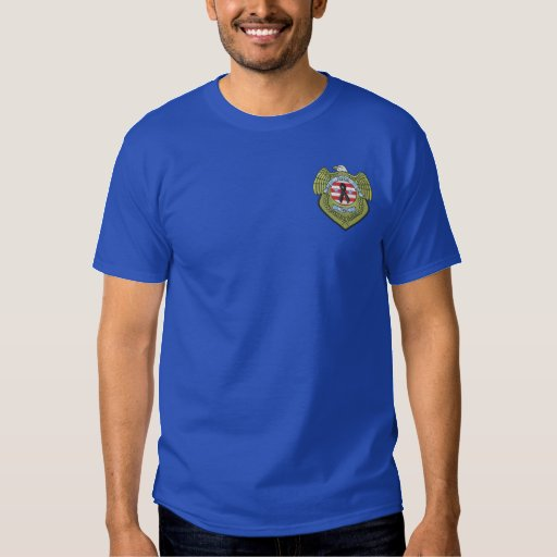 Police Mourning Badge Embroidered T-Shirt