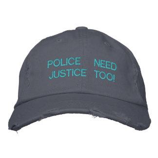 POLICE NEED JUSTICE Custom Cap @ eZaZZleMan.com Embroidered Baseball Caps