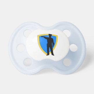 Police Office Design Car Digital Art Destiny Baby Pacifiers