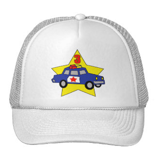 Police Officer 3rd Birthday Gifts Cap