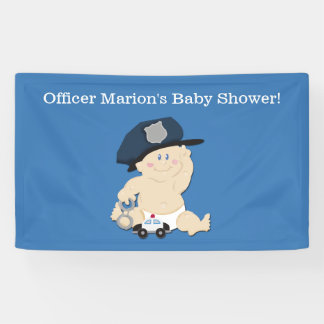 Police Officer Baby Cop Custom Banner