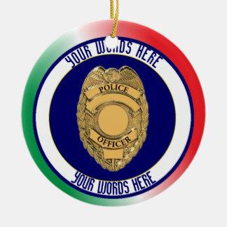 Police Officer Badge Custom Christmas Ornament