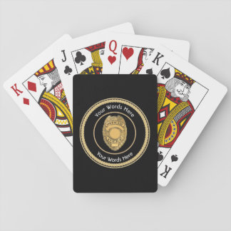 Police Officer Badge Universal Playing Cards