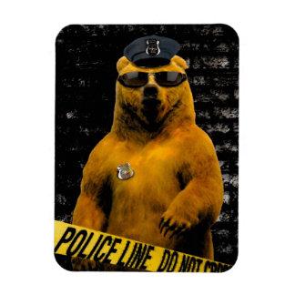 Police Officer Bear! Rectangular Photo Magnet