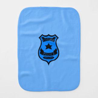 Police Officer Burp Cloths