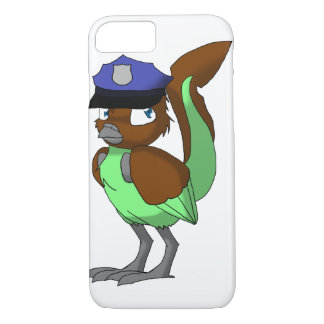 Police Officer Chocolate/Mint Reptilian Bird iPhone 8/7 Case