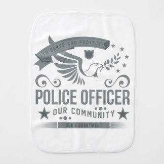 Police Officer Commitment Baby Burp Cloths