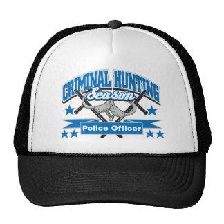 Police Officer Criminal Hunting Season Mesh Hat