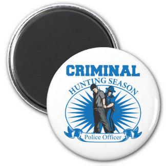 Police Officer Criminal Hunting Season Magnet