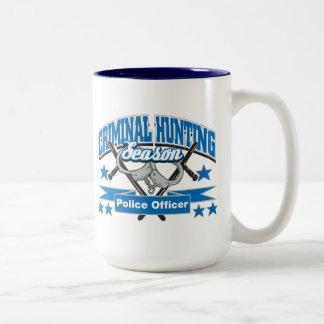 Police Officer Criminal Hunting Season Coffee Mugs