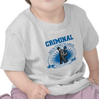 Police Officer Criminal Hunting Season T Shirt