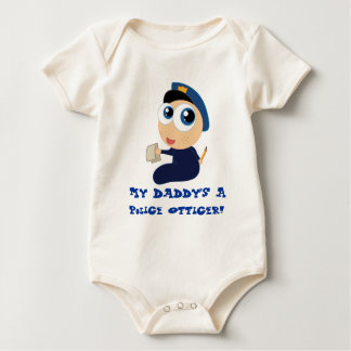 Police Officer Daddy Baby Tee