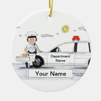 Police Officer - Female Ceramic Ornament