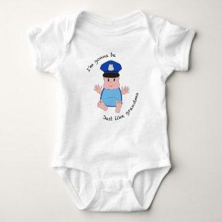 Police officer grandma baby bodysuit