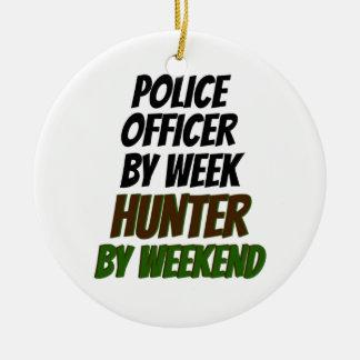 Police Officer Hunter Ceramic Ornament