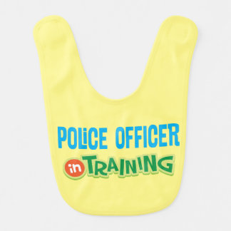 Police Officer In Training Baby Infant Bib