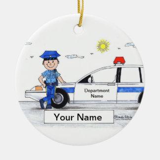 Police Officer - Male Ceramic Ornament