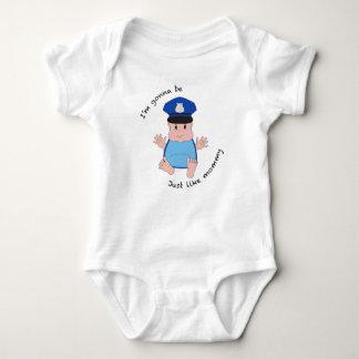 Police officer mommy baby bodysuit