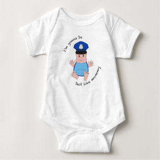 Police officer mommy tee shirts