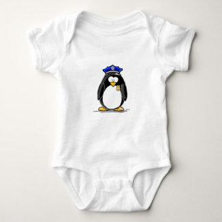 Police Officer Penguin Baby Bodysuit