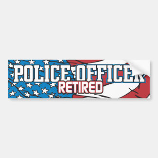 Police Officer Retired Bumper Sticker