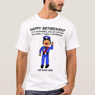 Police Officer Retirement Cartoon T-Shirt