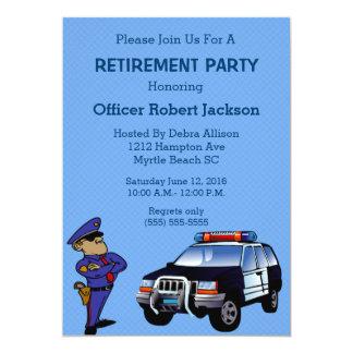 Police Officer Retirement Invitation