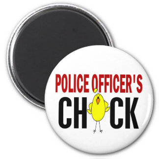 Police Officer's Chick 1 6 Cm Round Magnet