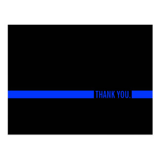 Police Officer Thank You postcard