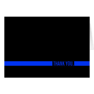 Police Officer Thin Blue Line Thank You Card
