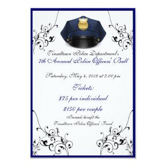 Police Officers' Ball Custom Front/Back RSVP Cards 9 Cm X 13 Cm Invitation Card