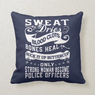 Police officers cushion